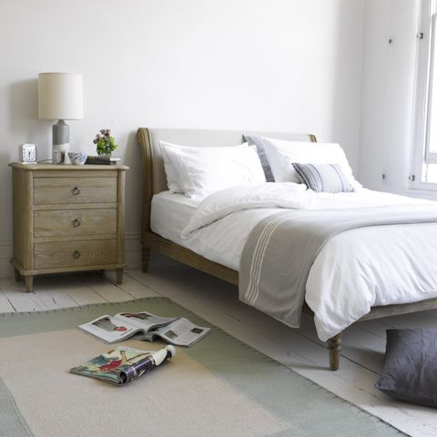 Darcy - Beautiful Weathered Oak French Beds, love the headdboard on this! | Loaf
