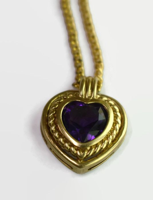 Vintage Women Gold Plated Necklace   Female Pendant Chain   Accessories Jewelry  Heart Shape      Color : Gold