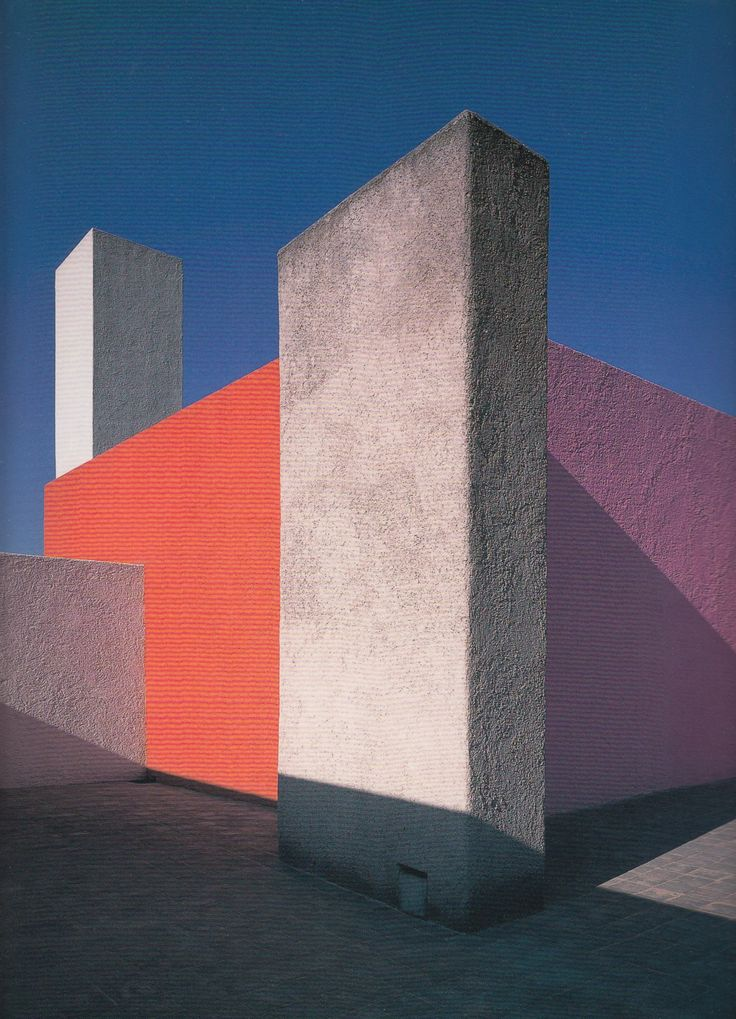 volumen color planos Luis Barragan house in Mexico City from 1948.
