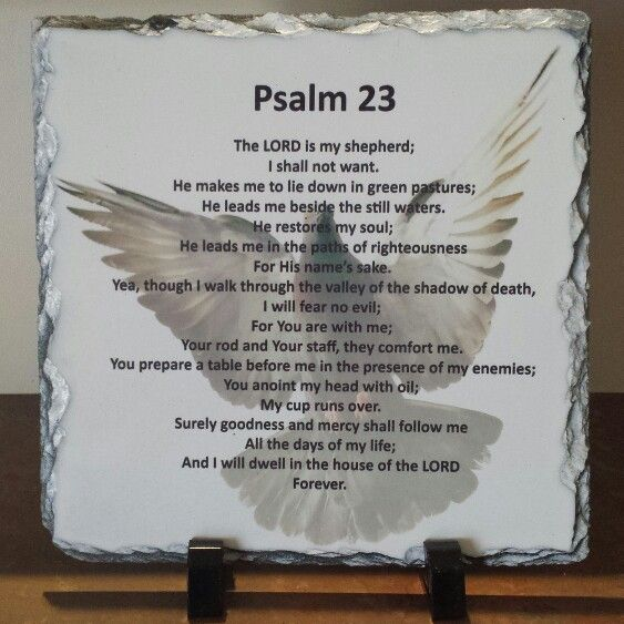 """Psalm 23""    Handcrafted slate stone plaque with inspirational message, footrests and gift box included.      Limited stock available - http://www.biblestonesaustralia.com.au"