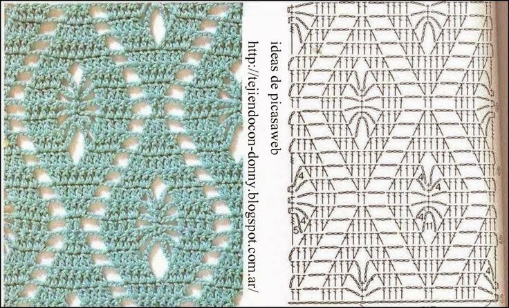 PATRONES - CROCHET - GANCHILLO - GRAFICOS: PUNTOS PARA TEJER A CROCHET CON SUS PATRONES
