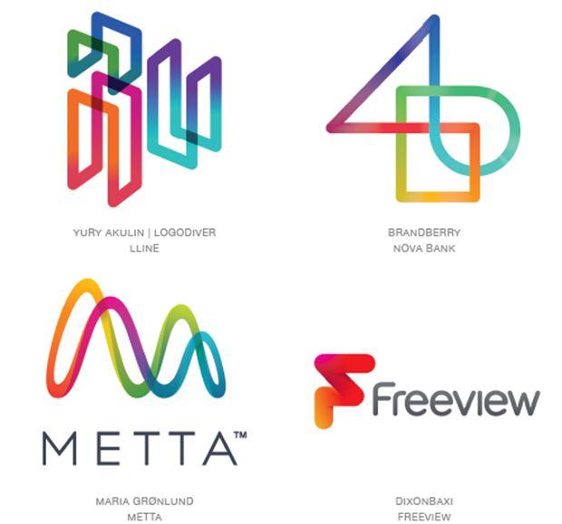 Chroma Coaster - 15 tendências no design de logotipos em 2015;