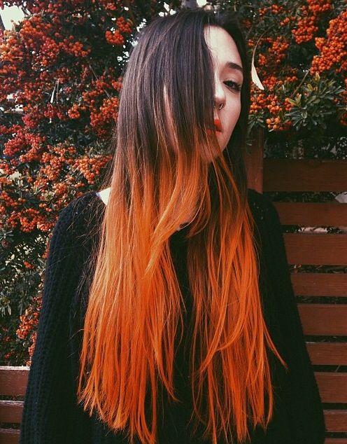 dip dye hair black to brown - photo #39