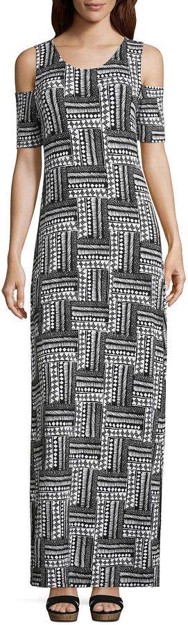 Asstd National Brand Short Sleeve Tie Dye Maxi Dress