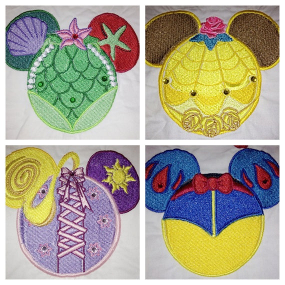 Disney Mouse Ears embroidered Sew On Patch Free by MyHoard on Etsy, $5.00