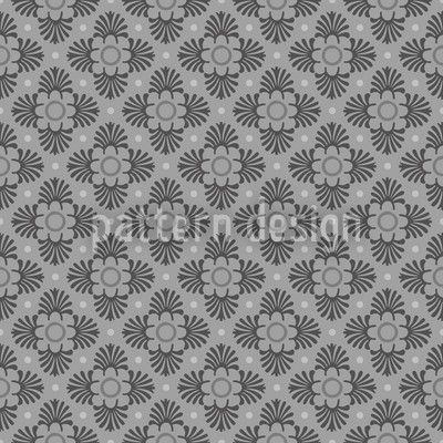Bloom Grey by Kerstin Nolte available for download as a vector file on patterndesigns.com