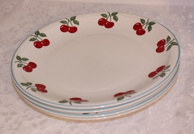 Mainstays Cherry Dinner Plates Set of 4 | eBay