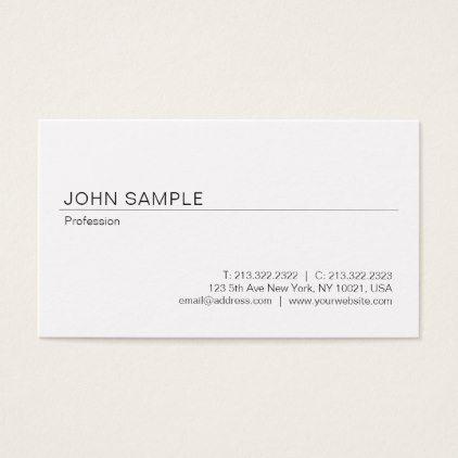 Trendy Elegant Design Professional Smart Plain Business Card