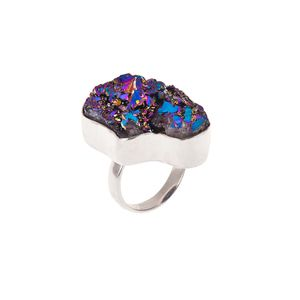 Rainbow Prism Druzy Ring | .925 Sterling Silver | www.nakedfaun.com