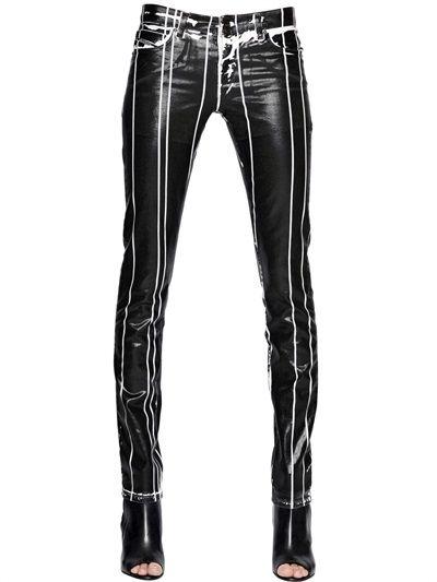DIESEL BLACK GOLD - Coated Cotton Denim Jeans - LUISAVIAROMA