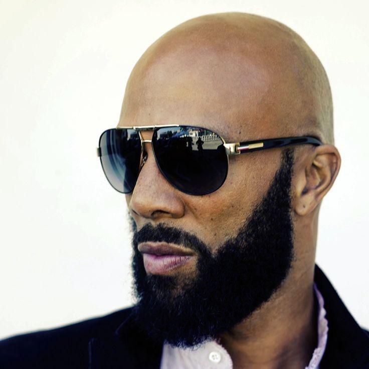 Bald Black Man With Beard