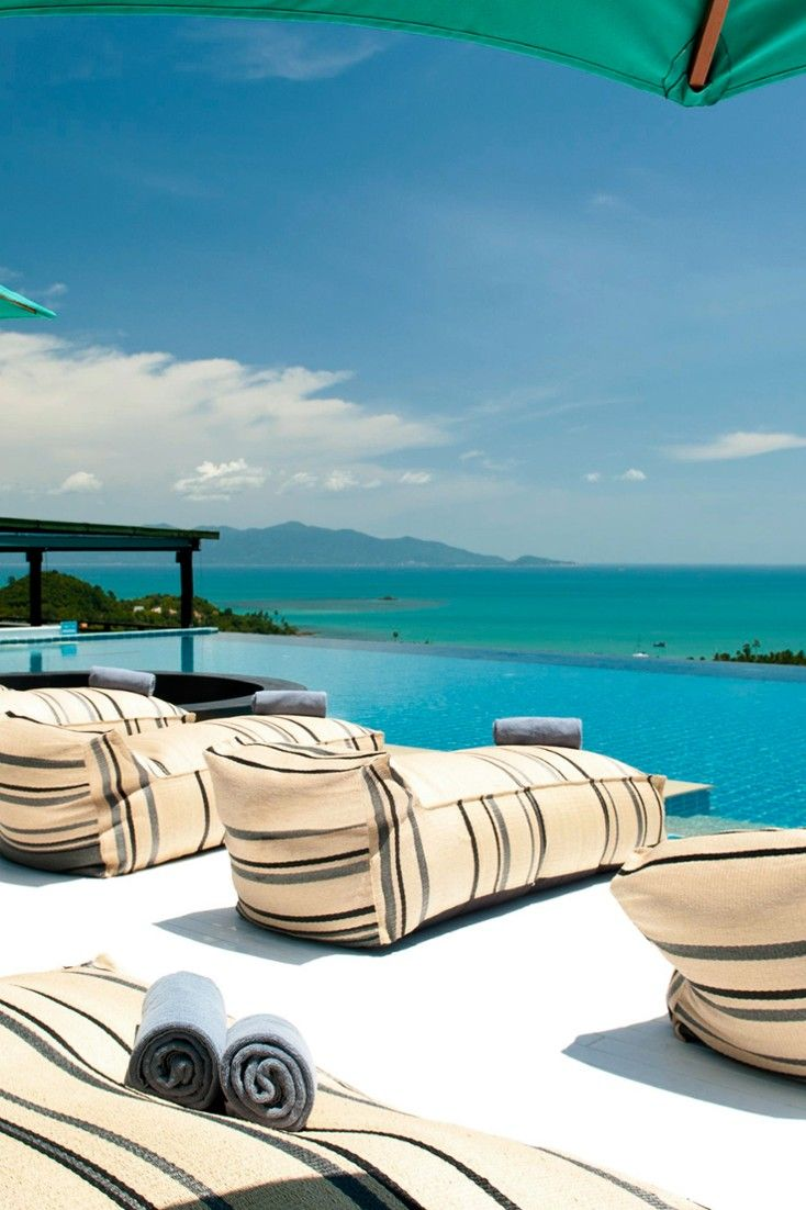 The infinity-edge pool is a stunner, with views straight out to the ocean. #Jetsetter Mantra Samui Resort, Koh Samui, Thailand