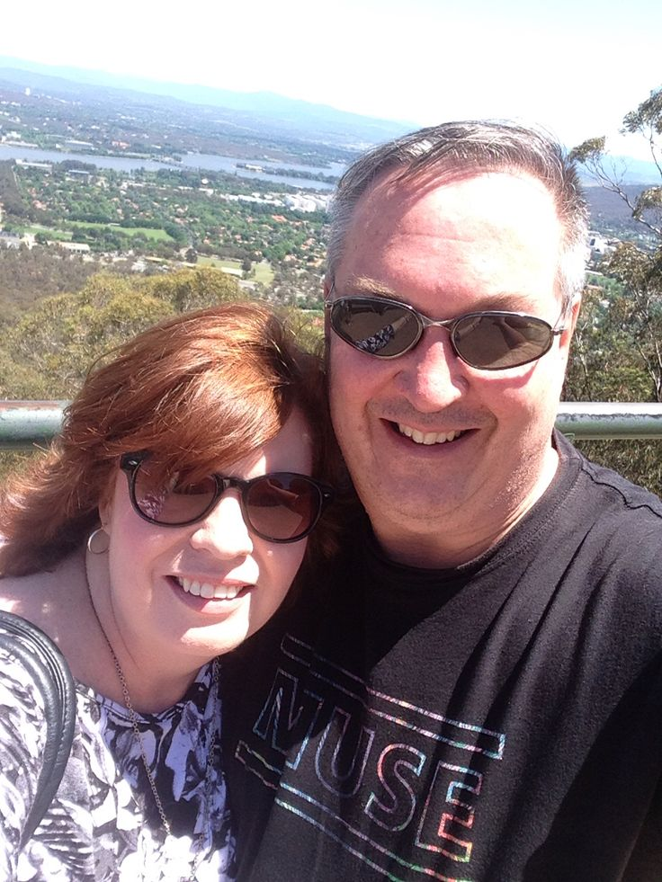 A fave pic of Matt & I looking out over the city of Canberra.