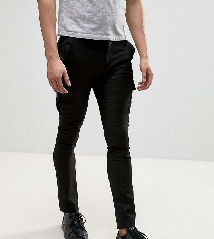 Heart & Dagger Skinny Smart Cargo Pants - Black