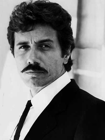 """Edward James Olmos -- in his iconic role as Lt. Martin Castillo in """"Miami Vice"""" tv show.  Personally introduced his film """"The Ballad of Gregorio Cortez"""" (1982) at the Hawaii International Film Festival."""