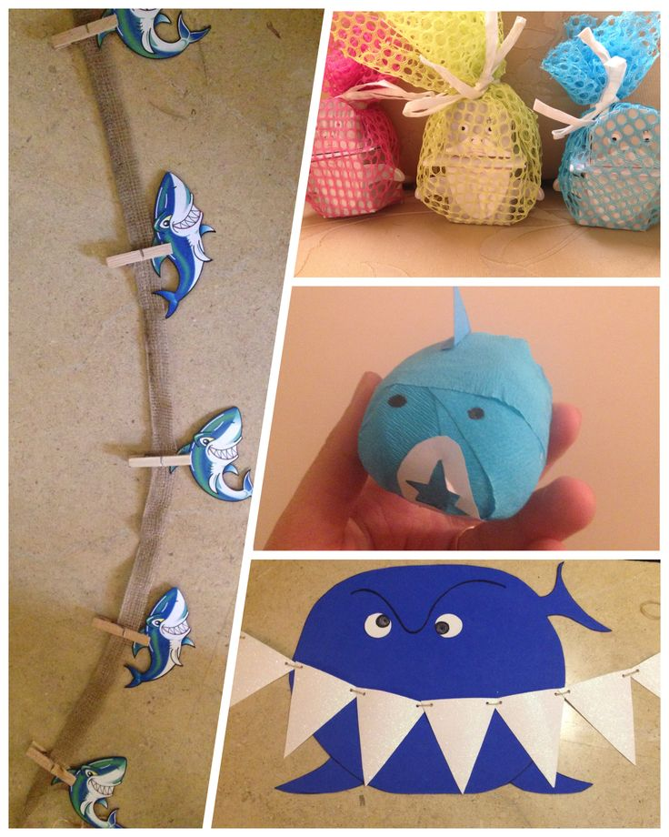 DIY Shark Party: Decor, invites, and favors!