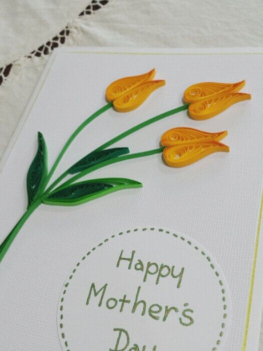 How To Make Paper Quilling Cards Part - 29: Beautiful Quilled Tulip Card- Great For Mothers Day
