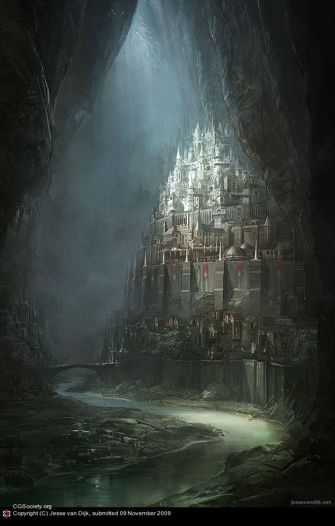 CGTalk - Netherworld Archipelago - the Capital, Jesse van Dijk (2D)