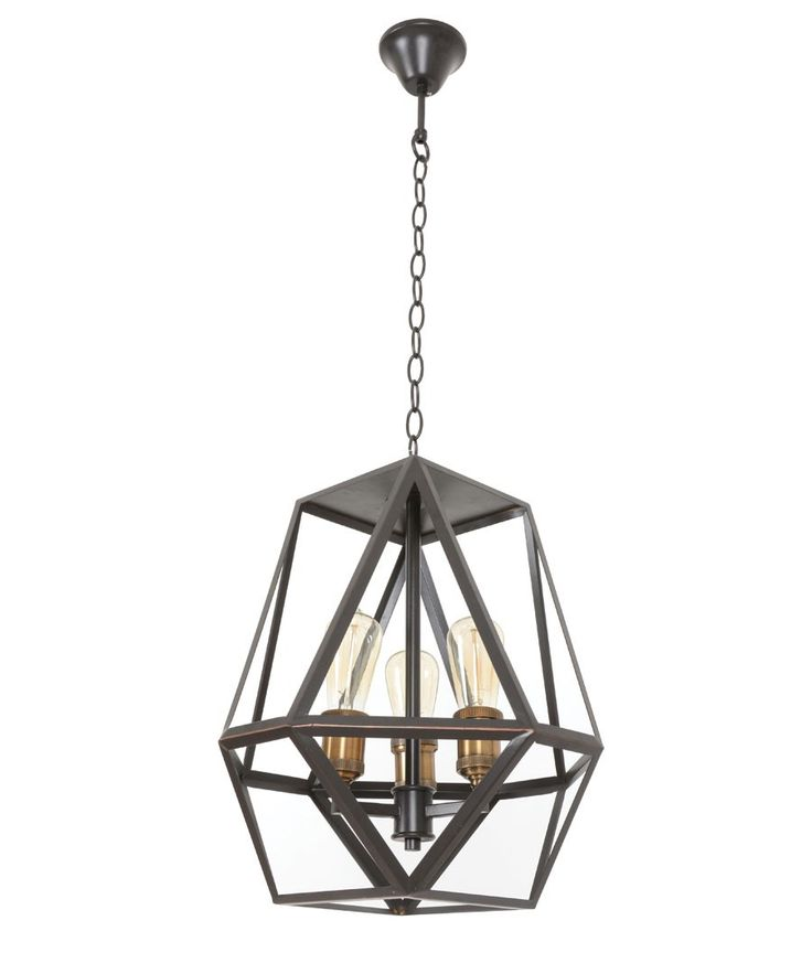 Beacon Lighting Vaille 3 Light Pendant In Oil Rubbed