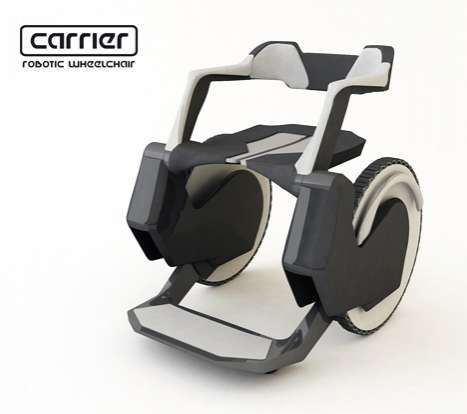 Autonomous Robotic Wheels - The Carrier Wheelchair Ensures User is Completely Independent (GALLERY)