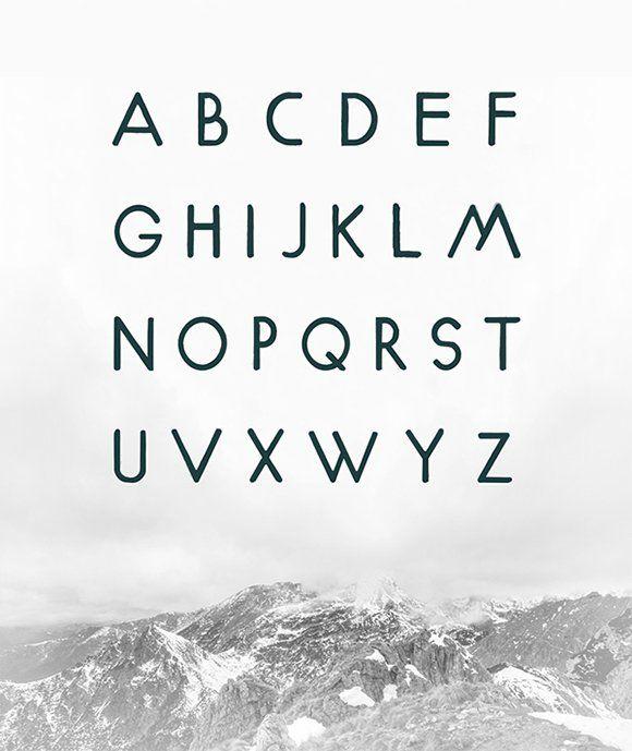 Gorg Free Geometric Fonts | via webdesignledger