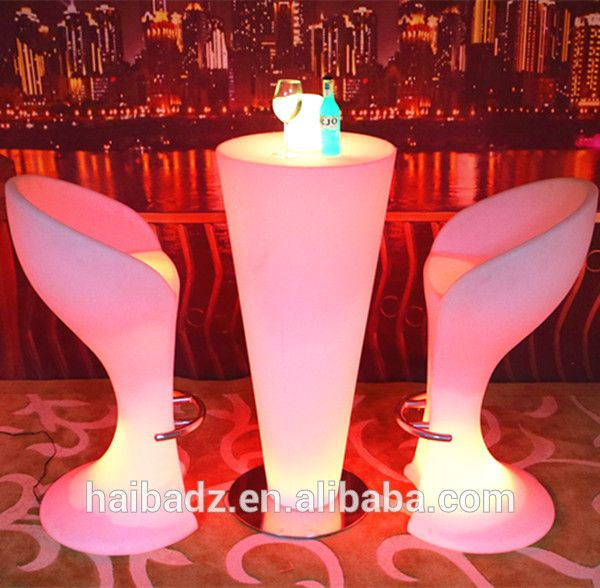 list of furniture brands 3d LED illuminated outdoor light cubes Rechargeable LED cube table and chair