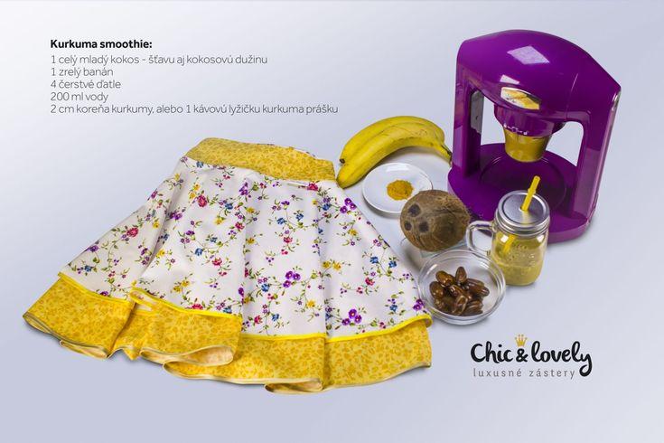 Kurkuma zafarbí na žlto všetko, okrem zubov, tie vybieli - Chic&lovely luxusné zástery