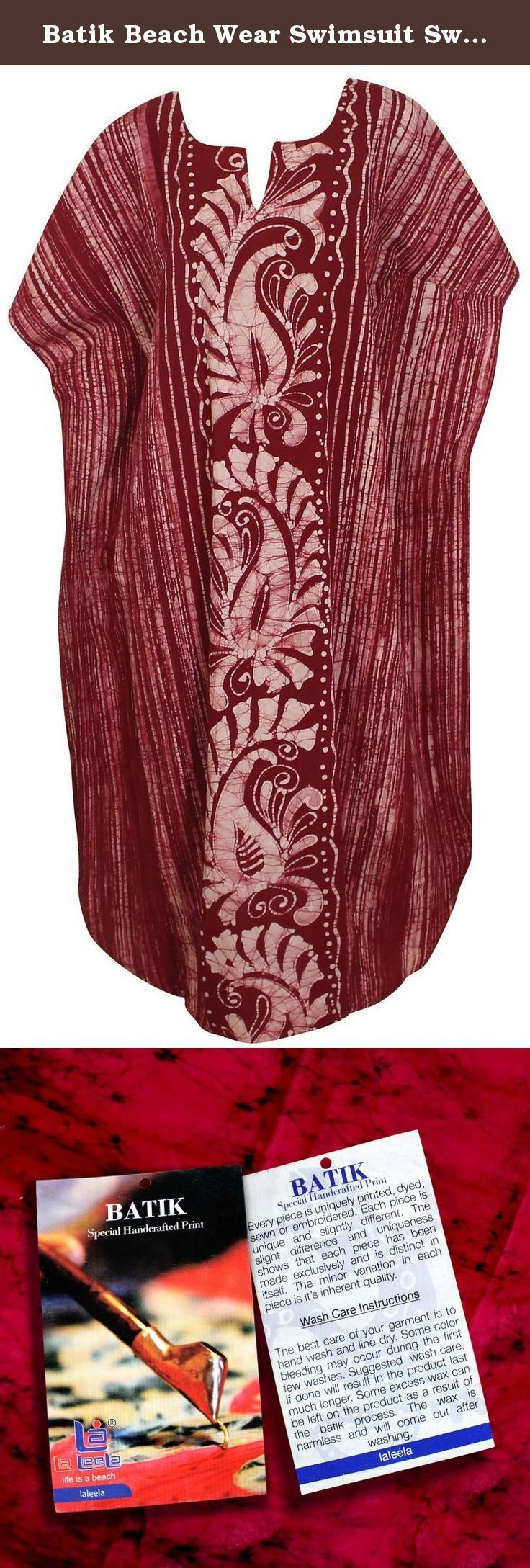 """Batik Beach Wear Swimsuit Swimwear Cotton Nightwear Bikini Cover Up Caftan Dress Valentines Day Gifts 2017. Description:- ==> Welcome to LA LEELA ==> Enjoy Beach, Breeze and Nature with La Leela's """"VIBRANT BEACH COLLECTION"""" and stay calm and classy! . ==> Fabric : 100% COTTON HAND MADE BATIK PRODUCT INDIVIDUALLY MADE AND IS UNIQUE US Size : From Regular 14 (L) TO Plus Size 18W (2X) ➤ UK SIZE : FROM REGULAR 14 (M) TO 22 (XL) ➤ BUST : 46 Inches [ 116 cms ]➤ Length : 66 Inches [ 167 cms ]…"""