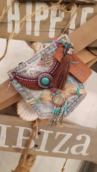 Hipster / buideltas with belt Handmade