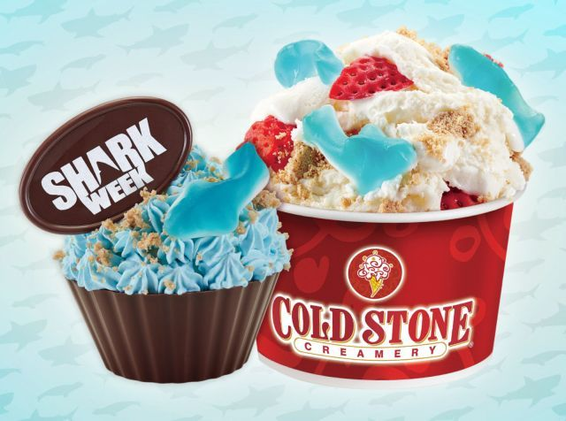 Cold Stone Creamery once again celebrates Shark Week with two new themed menu items as well as new Sea Salt Sweet Cream ice cream.