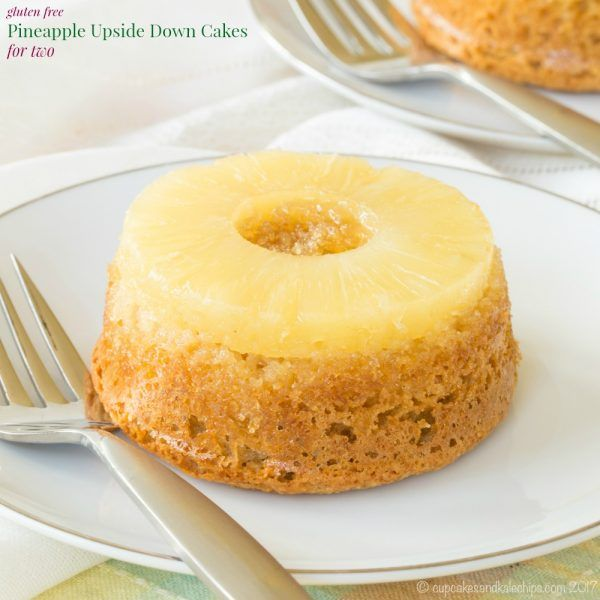 Gluten Free Pineapple Upside Down Cake for Two