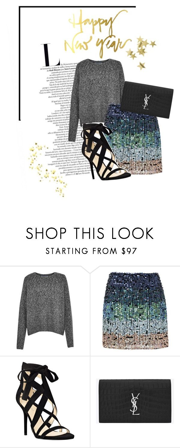 """Happy New Year!"" by twinklepink ❤ liked on Polyvore featuring French Connection, Nine West, Yves Saint Laurent and H&M"