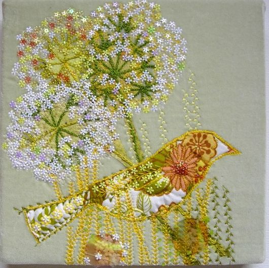 Embroidered Textile Art by Nicky Perryman