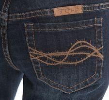 NATURAL WAIST - Western Edge Dark Cowgirl Tuff Jeans