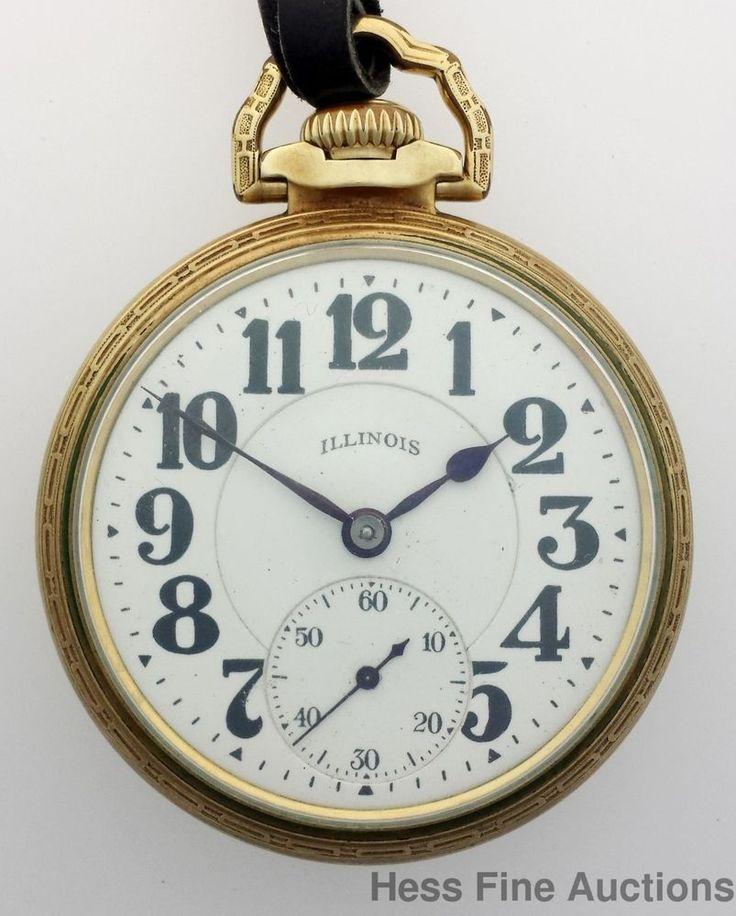 Scarce Type III Bunn Special 21 Ruby Jewels 60 Hour Railroad Pocket Watch #Illinois