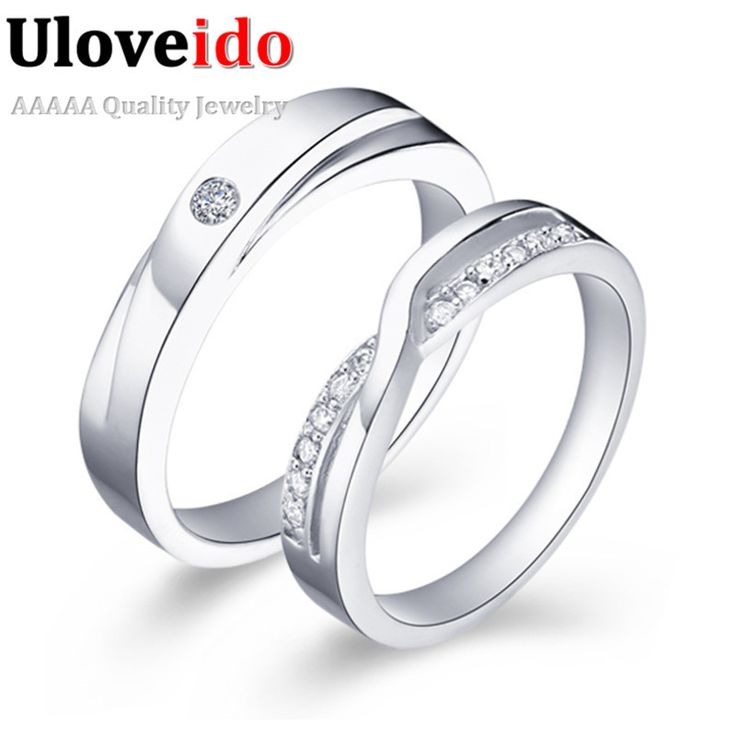 White 5.5 Silver Engagement Rings Vintage Women and Men Jewelry Ring Female and Male Anillos de Compromiso Ulove J040