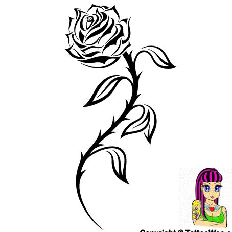 27 best tattoo ideas images on pinterest boy scouting for Tribal rose tattoo designs