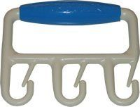 BAGGLER CDBLU- BAGGLER Blue . $9.98. The BAGGLER is simple and lightweight. Weighs only 1.7 ounces but is a mighty tool. It is made of a high strength plastic polymer. Its comfortable handle and three solid hooks with tines will keep all your bag handles secured. The hooks and tines are brilliantly designed to allow thin handle cloth rope handle and plastic shopping bag handles to slide on and off with very little effort. 1 Ergonomic multiple bag carrier Blue Weighty thin hand...