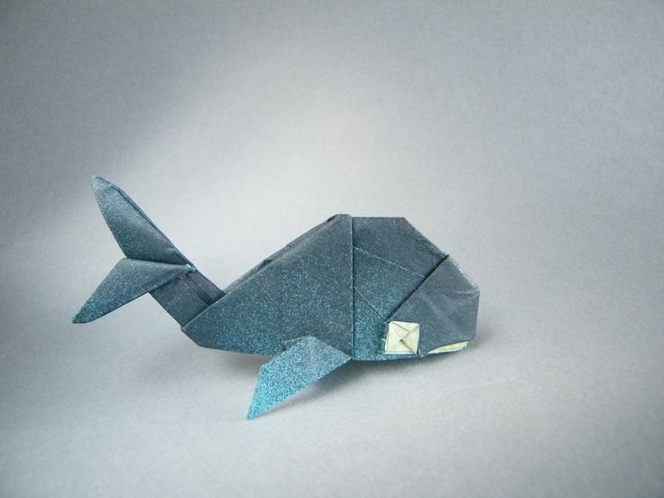 Origami Whale ~ So cute! <3                                                                                                                                                                                 More