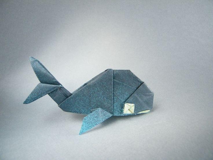 Origami Whale ~ So cute! <3