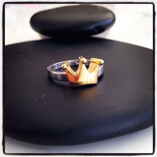 Crystal Queen Logo Ring