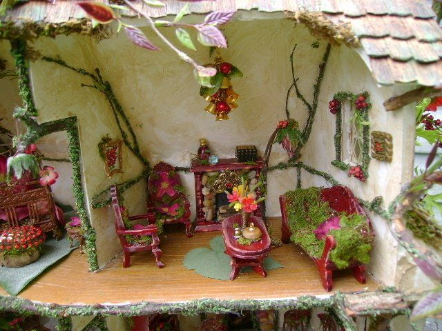 interior of a fairy house