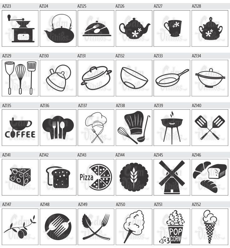 14 best vinilos para cocina images on pinterest cricut - Vinilos decorativos para cocina ...