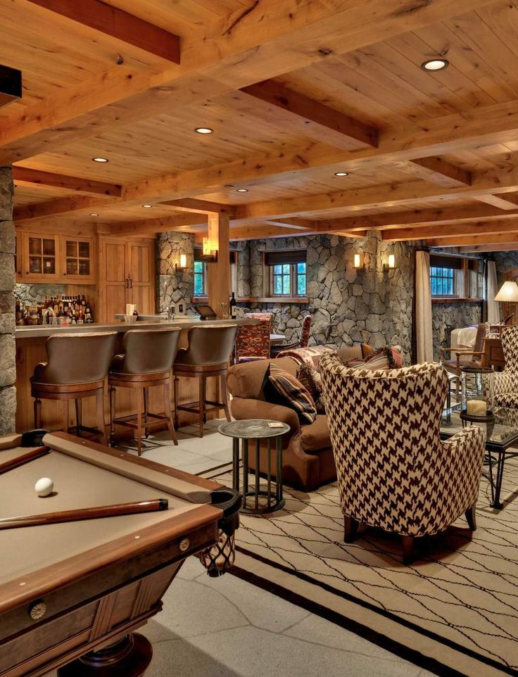 Old Tahoe House By OOA Design. Basement BarsBasement IdeasRustic ...