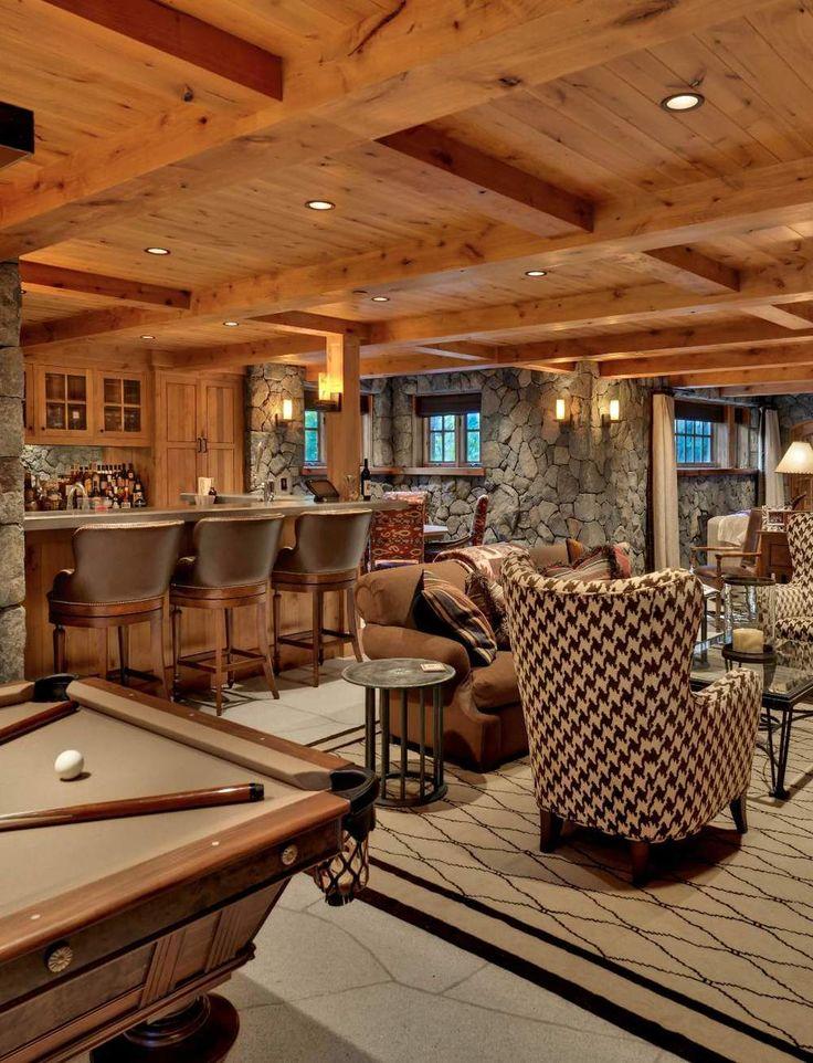 Old Tahoe House By OOA Design. Basement BarsBasement IdeasBasement ...