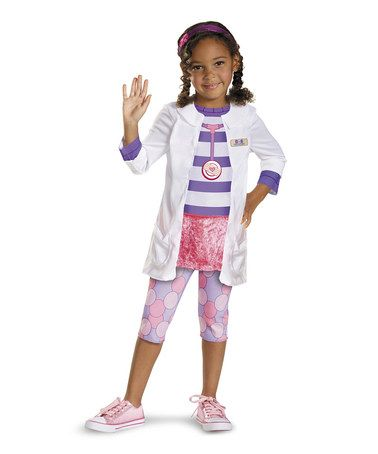 Take a look at this White & Purple Doctor Classic Dress-Up Set - Toddler & Girls by Disguise on #zulily today!