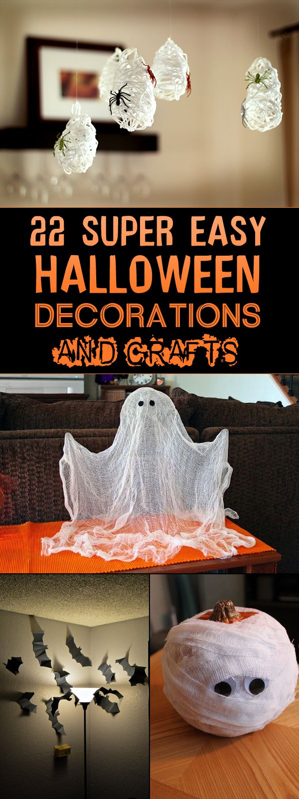 22 Super Easy Halloween Decorations and Crafts