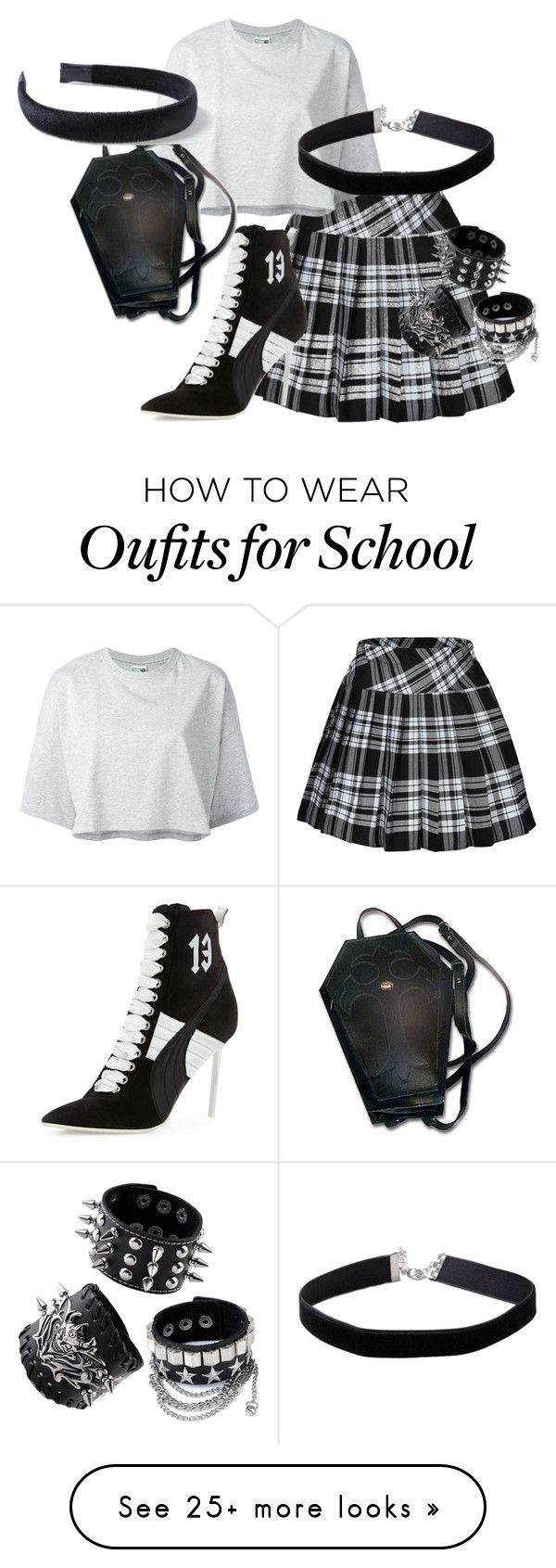 """""""I'm Just Gothic"""" by greekgale on Polyvore featuring Puma and Miss Selfridge"""