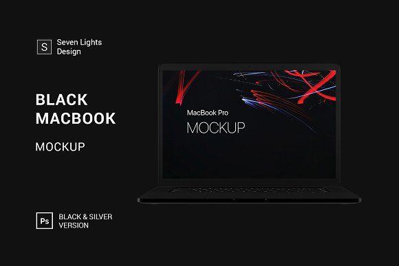 Black Macbook Mockup Macbook Mockup Mockup Mockup Template