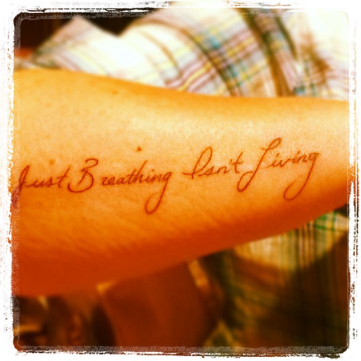 My New Tattoo....my Only Tattoo. 50th Birthday Present